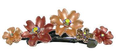 Bella Set of 6 Small Flower Crystal Hair 6 YY86400-12-6
