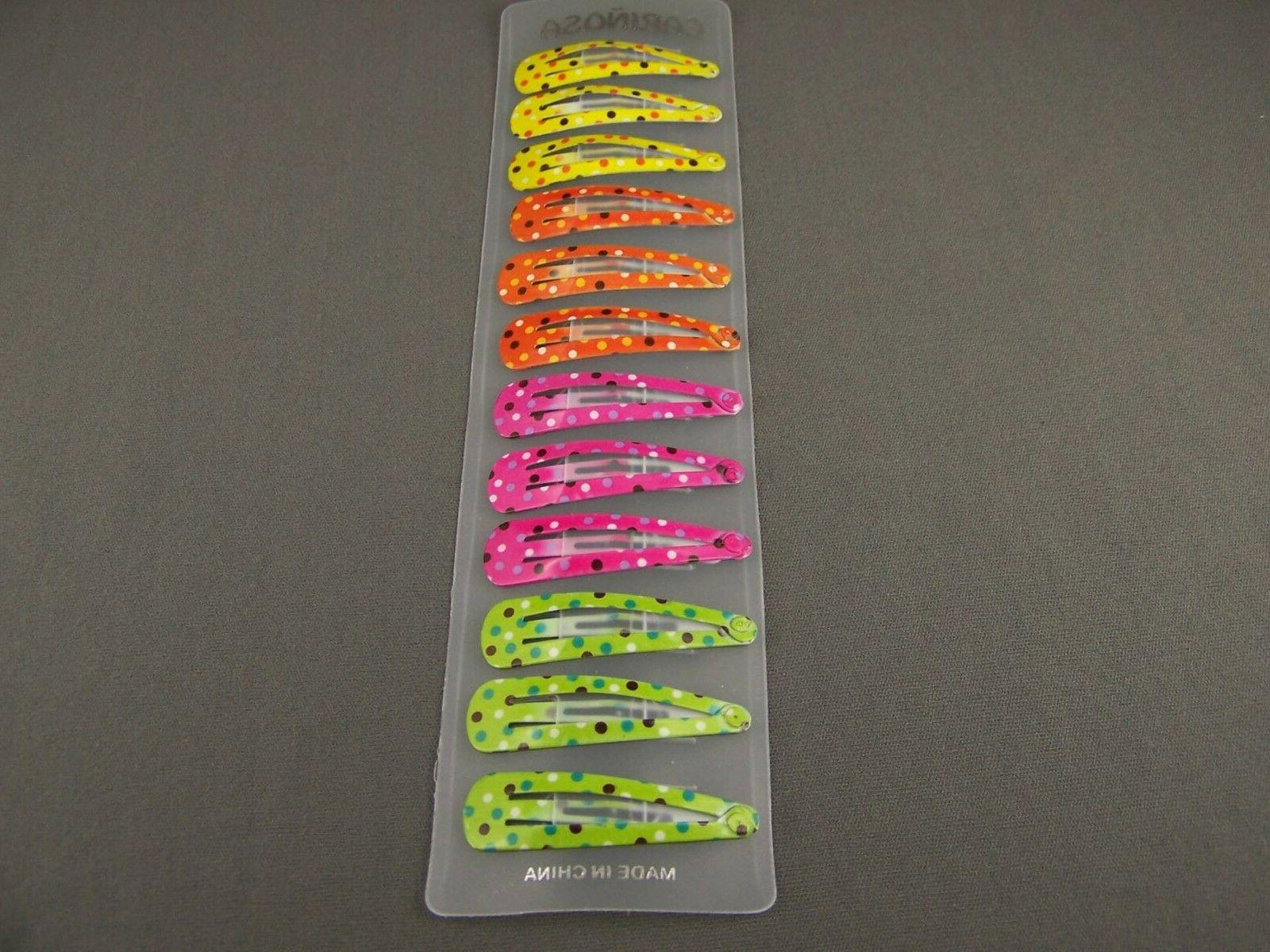 set pack of 12 painted metal hair