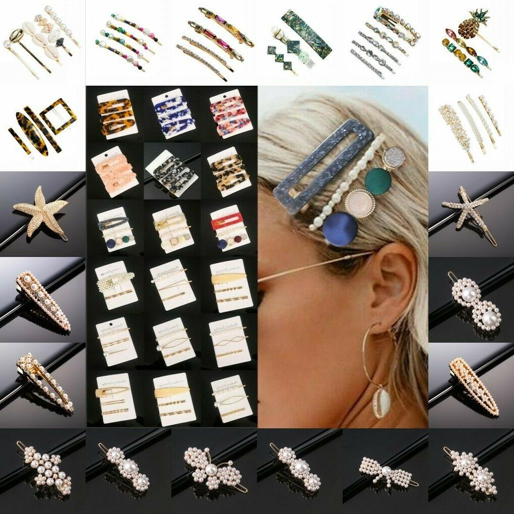set women s hair slide clips snap