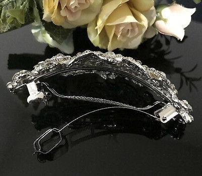 Silver rhinestone crystal metal hair