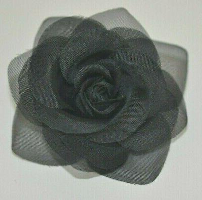 small 3 5 sheer black rose artificial