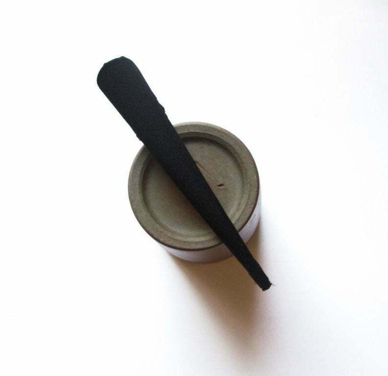 SALE SMALL Black Hair Clip, Minimalist Long Metal Japanese K