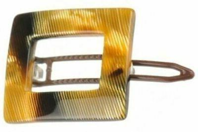 French Small Square Celluloid Handmade Clip For