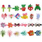 """Small Hair Bows for Girls 24 Pcs 2.5"""" Butterfly Flower Baby"""