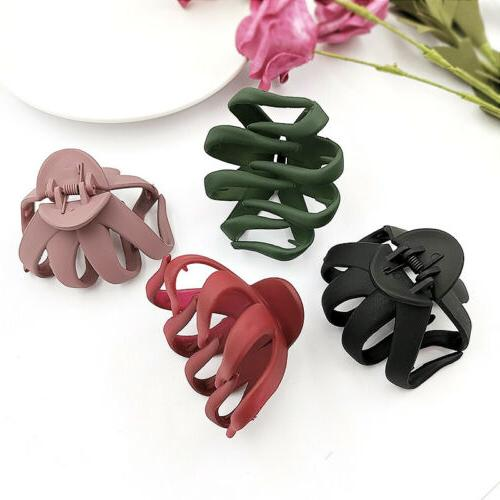 Solid Geometric Hollowing Large Hair Claw Hair Accessories