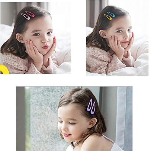 100PCS Clips Inch No Slip Hair Clips Barrettes Hairpins for Toddlers Teens,Including Clips+60pcs Solid Clips