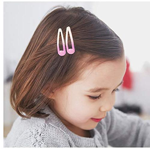 100PCS Snap Inch Slip for Toddlers Teens,Including Glitter Clips+60pcs Solid Clips