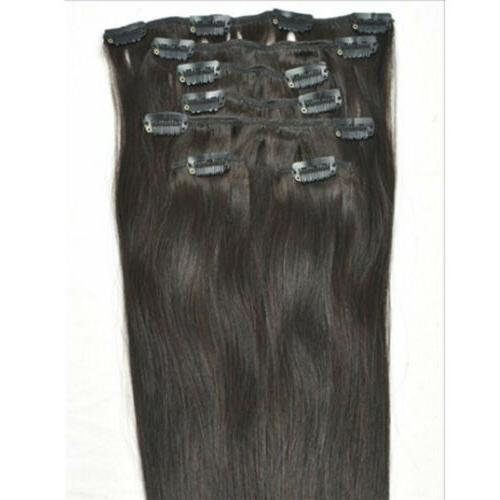 "Straight Clip On Hair Hair 20"" 7pcs"