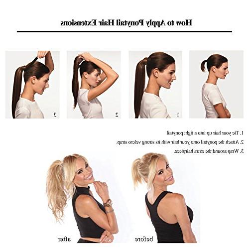 "18"" Straight Ponytail Hair for Natural Black"