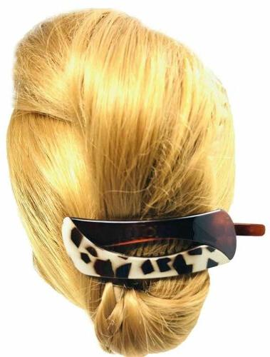 Parcelona Large No Clip Barrette Hair