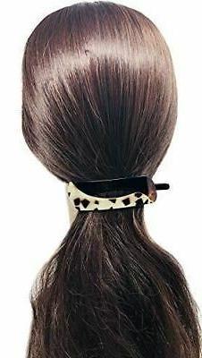 Parcelona Swift Shell Large Clip Barrette Hair