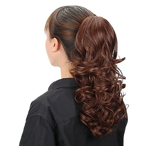 Multi Ponytail Clip Hair Extensions Natural Hairline Long Jaw Hairpiece