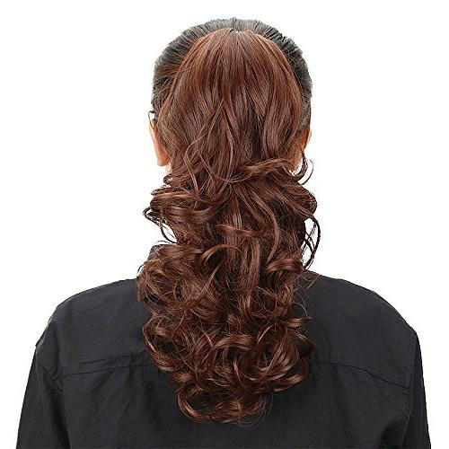 Multi Ponytail Hair Long Curly Wavy Jaw Tail Hairpiece