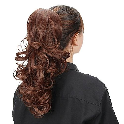 Multi Color Synthetic Claw Ponytail Hair Extensions Natural Jaw Pony Hairpiece