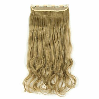 3/4 Full In Hair Extensions Straight Extentions Hair Piece Xmas