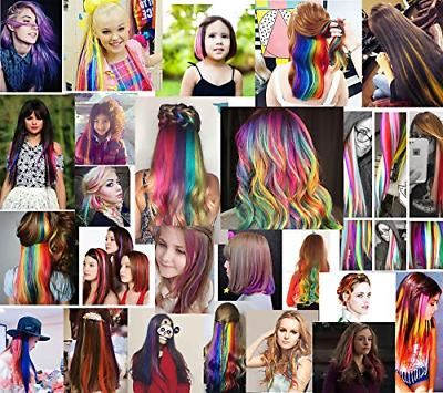 Teal Hair Hair Extensions for Kids