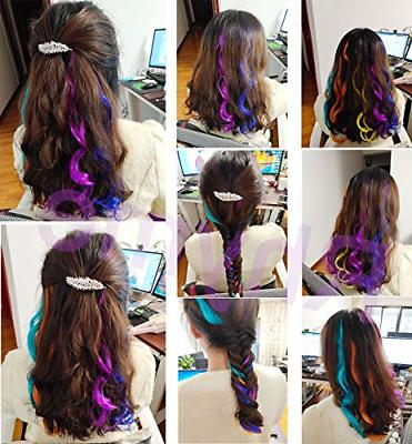 Teal Hair Colored Hair Extensions for and Kids