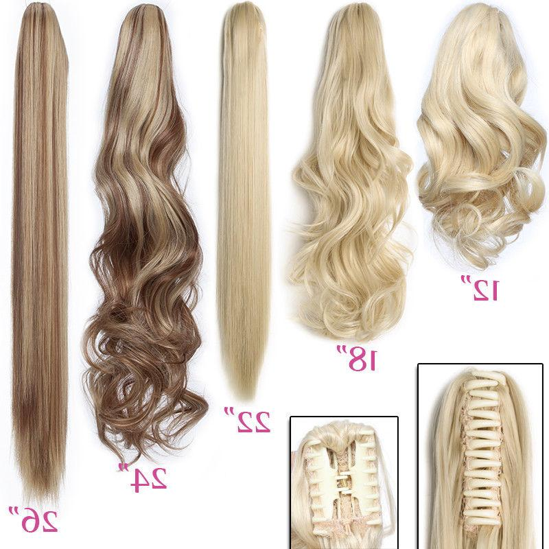 Thick Tail Extensions Clip On Human PG