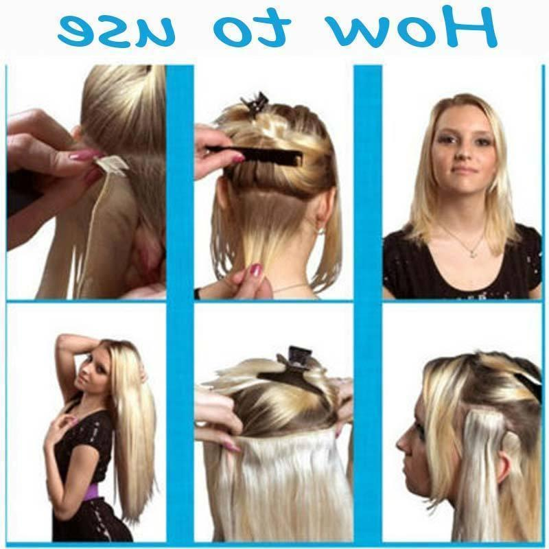 Thick Weft In Human Hair Extensions Full highlight US