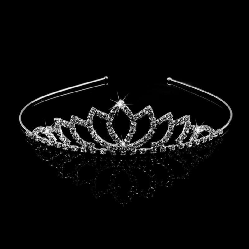 TIARA CROWN Hair Clip Loop Wedding Prom