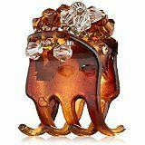 Caravan Tortoise Shell Clip, Mini with Crysytals Ponytail Cl