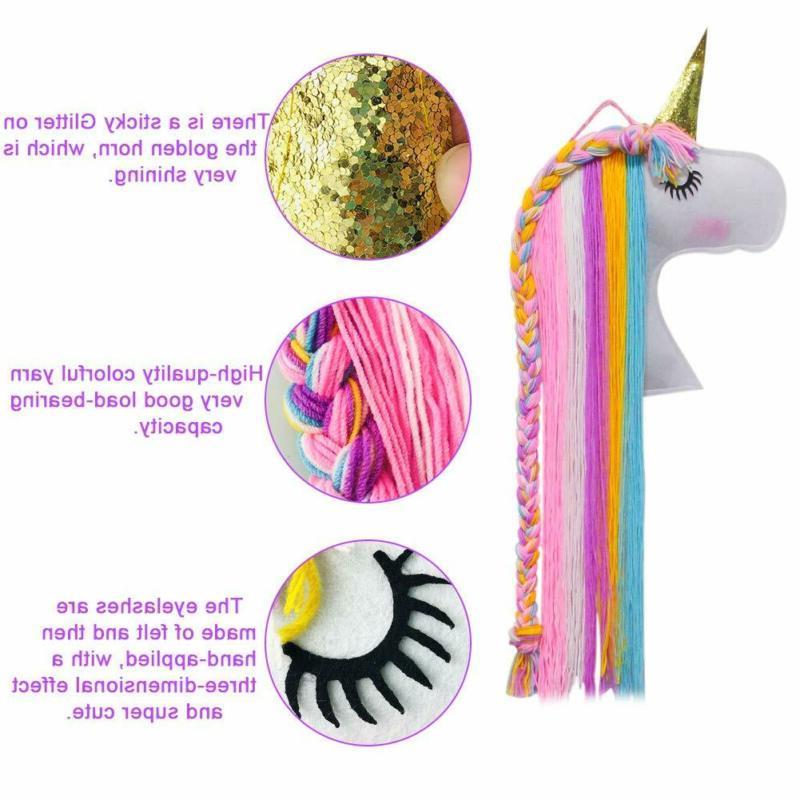 Unicorn Clips Holder Girl Fringe Hair Bows Storage
