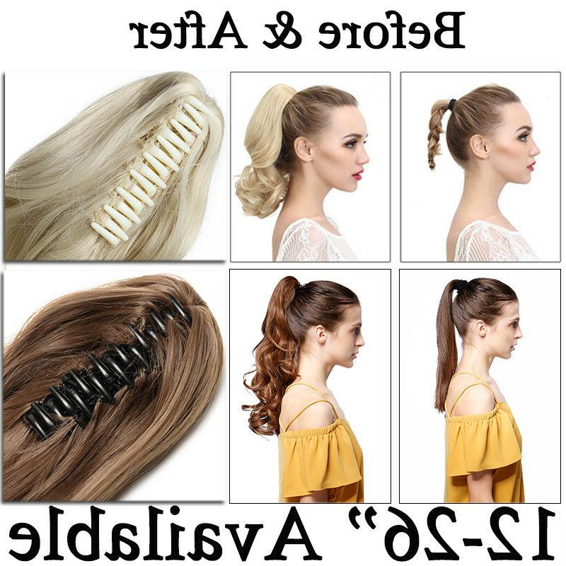 US New Clip In Extension Pony Around Ponytail