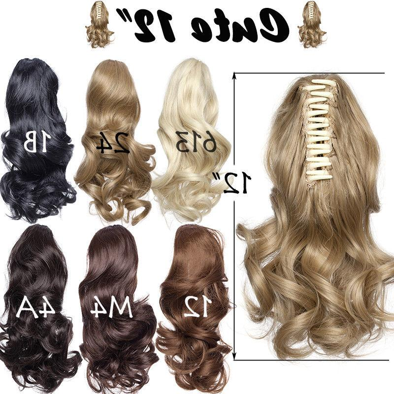 """US 26""""+Clip Hair Extensions Jaw Tail Synthetic Buy1Get10%"""
