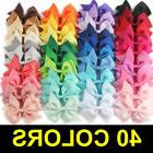 US 40pcs Kids Baby Children Toddler Flowers Hair Clip Bow Ac