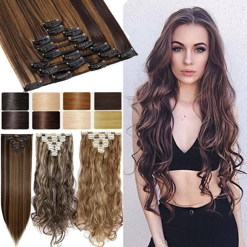 us 8 pieces clip in hair extensions