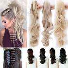 US Ponytail Clip In Hair Extensions Jaw Claw On Pony Tail Re
