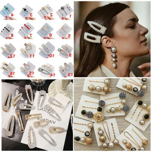 usa fashion pearl hair clip hairband comb