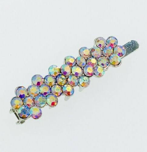 USA Magnet Hair Clip Rhinestone Crystal Hairpin mini Barrett