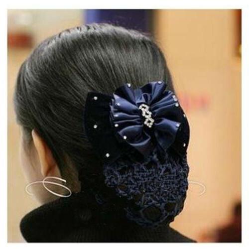 USA Lady Rhinestone Cover Bowknot Snood
