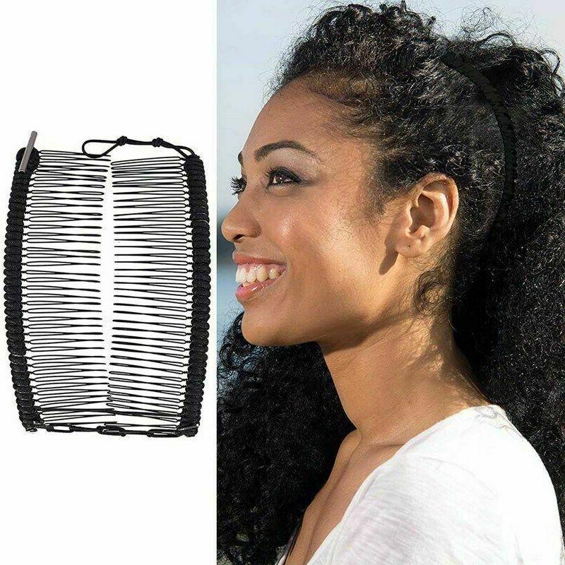 vintage banana hair clip double comb hair