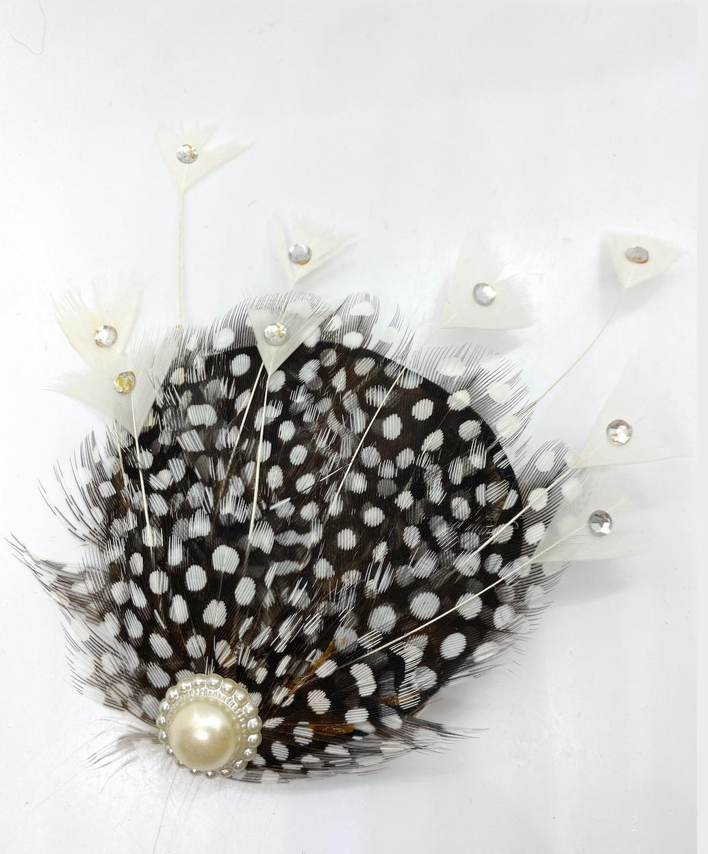 wedding bridal lady mens white black feather