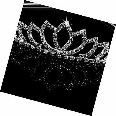 Pixnor Wedding Rhinestone Hairband Clip Hair