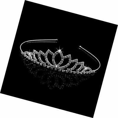 Pixnor Wedding Tiara Bridal Rhinestone Decor Clip