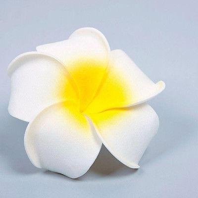 White Plumeria Hair Clip Bridal Hair 2 Witty