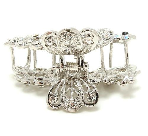 New Whites Crystal Metal claws pins clips