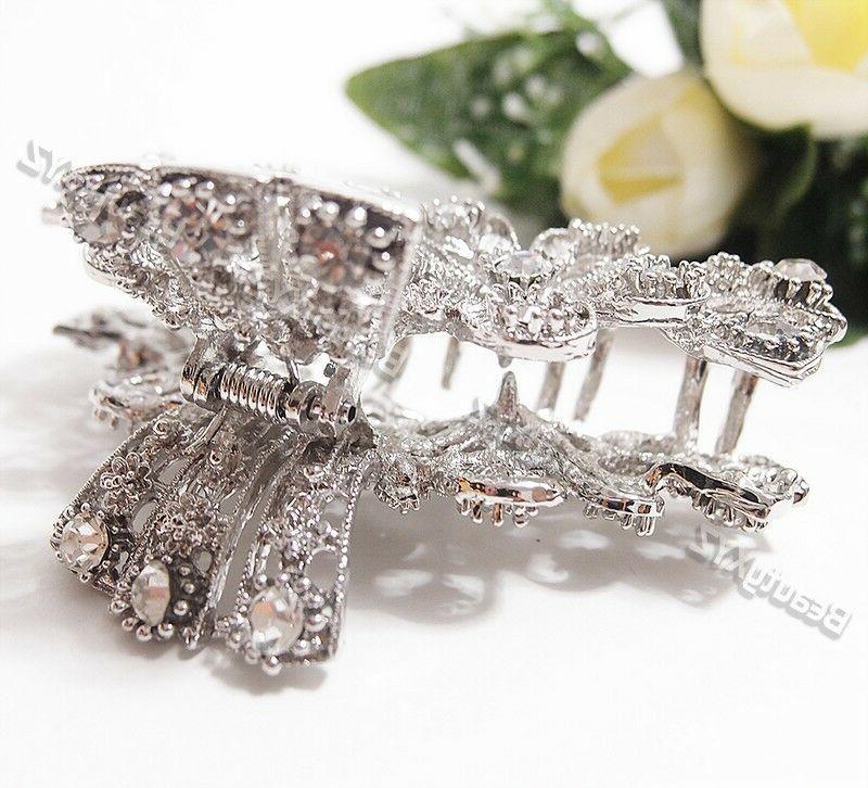 Woman flowers design hair claws clip bridal