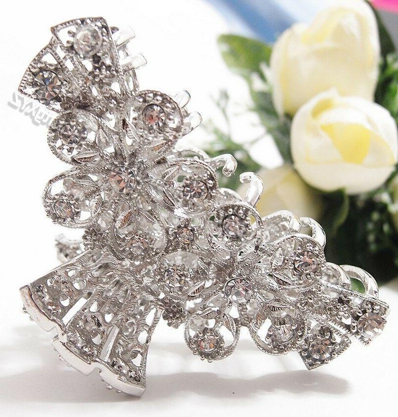 Woman Rhinestones Crystal design metal