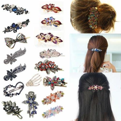 women 32 styles retro crystal rhinestone bow
