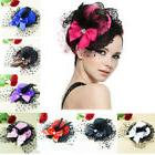 Women Bow Hair Clip Lace Fancy Hat Feather Gift Hot Sale Sho