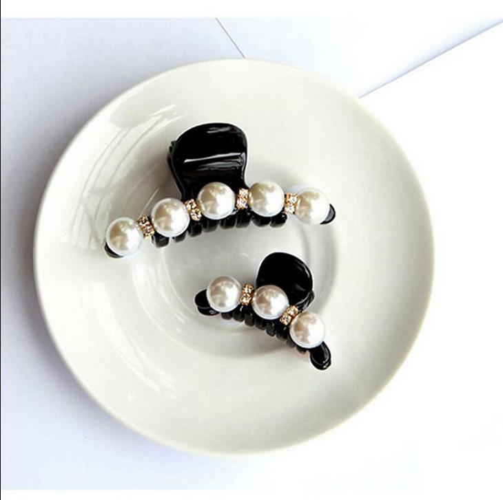 Clip Pearl Hairpin Claw Clamp Bang