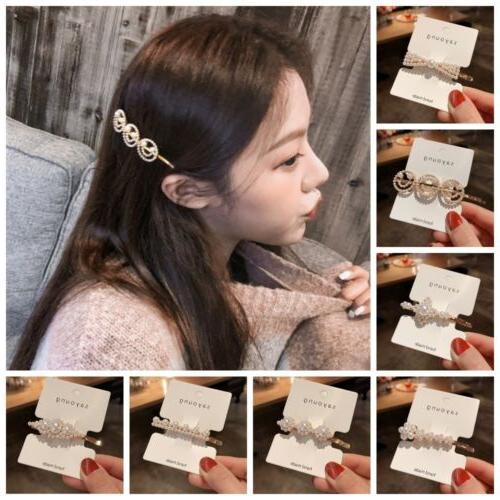 Women Girl Pearl Hair Clip Pin Headdress Accessories