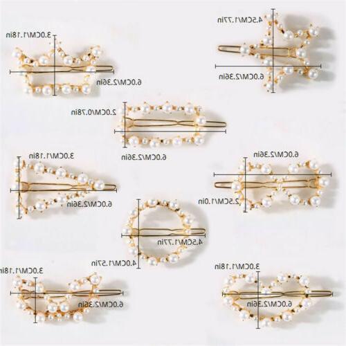 Women Pearl Clip Comb Pin