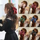 Women Girls Cute Big Satin Hair Hair Band Boutique Hair Clip