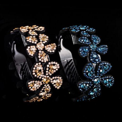 Girls Crystal Claw Ponytail Bun Comb Gift Fashion