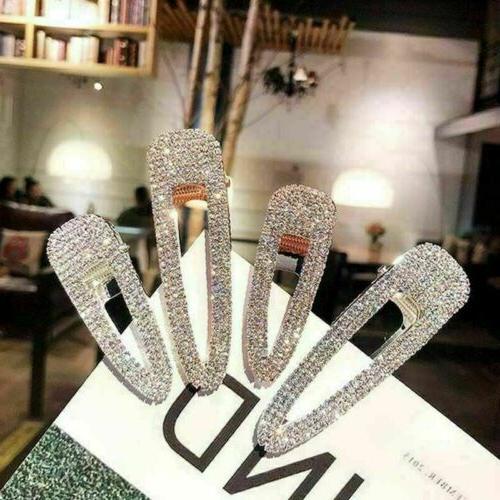 women girls hair clip full rhinestone crystal